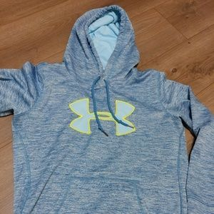 Blue, mint and electric yellow Under Armour hoodie